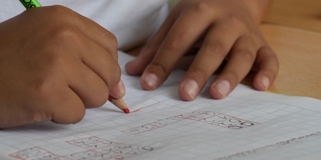 maths lesson at school