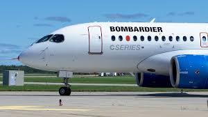 Bombardier C Series plane