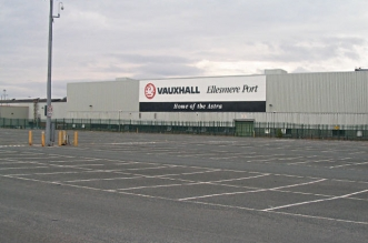 Ellesmere Port Vauxhall car factory external