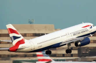 BA aeroplane taking off