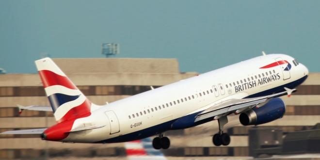 BA aeroplane taking off