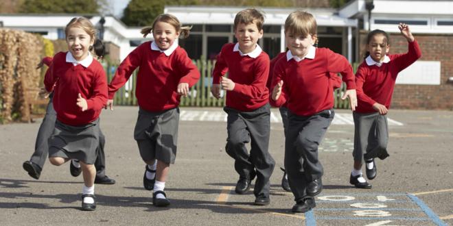 school kids in playground