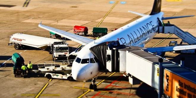 aeroplane in airport