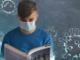 school pupil with face mask