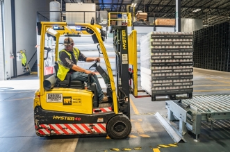 fork lift truck in a factory