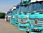 lorries parked