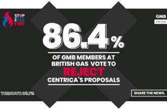 GMB British Gas vote results