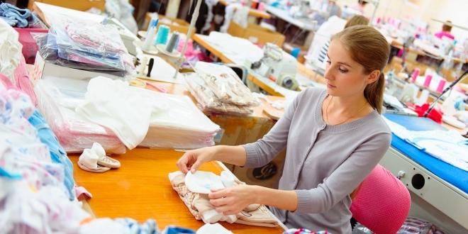 Seamstress in factory