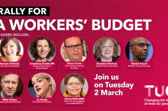 Workers Budget rally