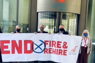 Unite fire and rehire campaign