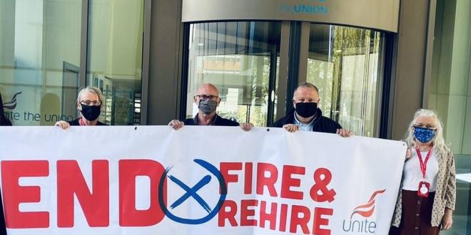 Unite fire and rehire campaign